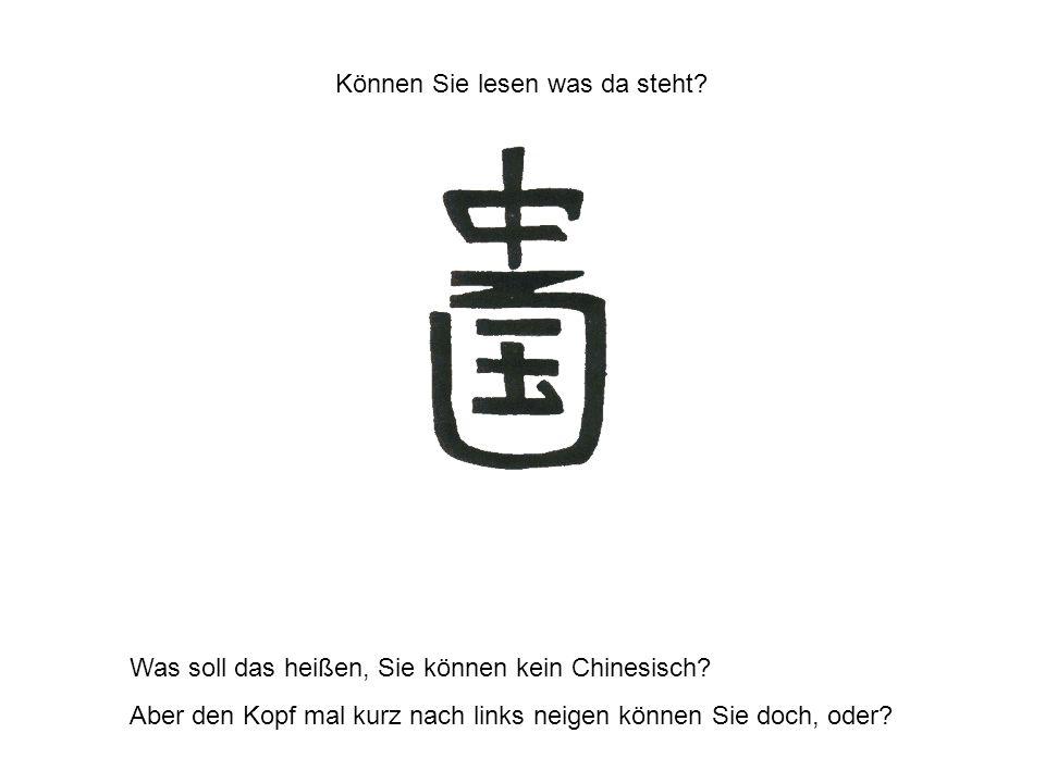 Können Sie lesen was da steht.Was soll das heißen, Sie können kein Chinesisch.