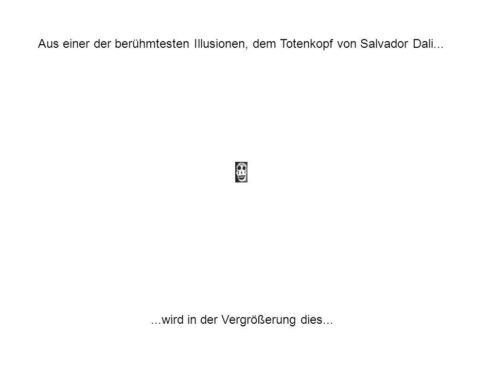 Aus einer der berühmtesten Illusionen, dem Totenkopf von Salvador Dali......wird in der Vergrößerung dies...