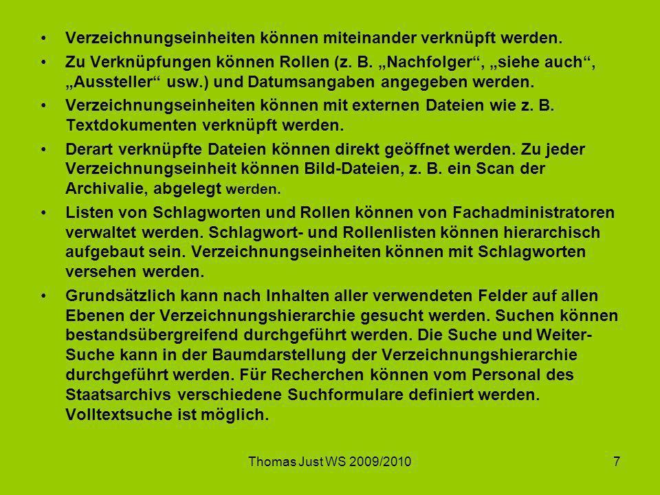 Thomas Just WS 2009/20108 Es existieren viele Lösungen….