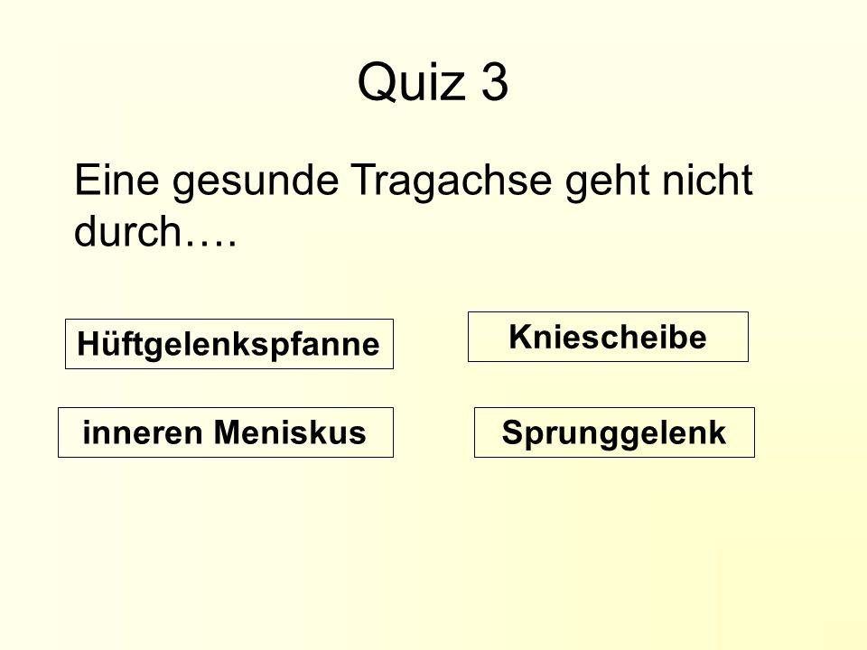 Quiz 3 Eine gesunde Tragachse geht nicht durch….