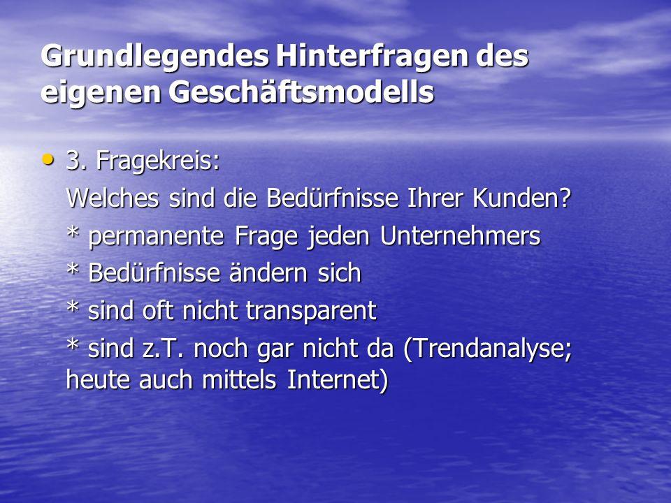 Grundlegendes Hinterfragen des eigenen Geschäftsmodells 3.