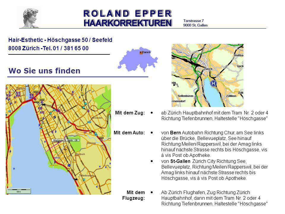 Wo Sie uns finden Mit dem Zug: ab Zürich Hauptbahnhof mit dem Tram Nr. 2 oder 4 Richtung Tiefenbrunnen, Haltestelle