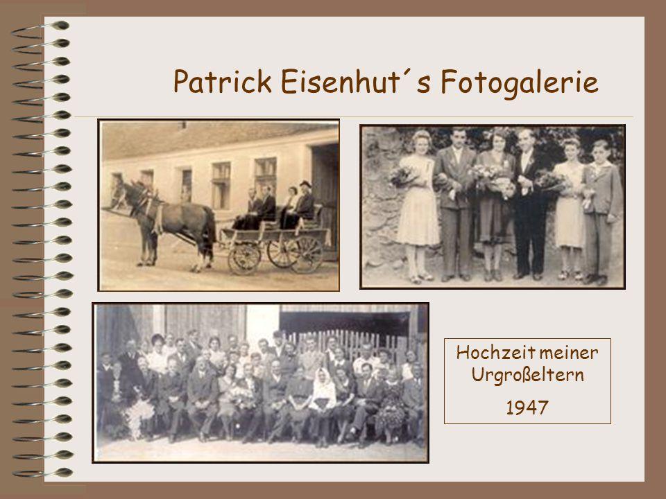 Patrick Eisenhut´s Fotogalerie Hochzeit meiner Urgroßeltern 1947