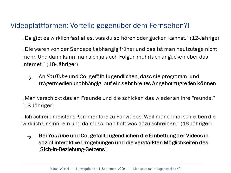 Maren Würfel – Ludwigsfelde, 14. September 2009 – Medienwelten = Jugendwelten?!? Da gibt es wirklich fast alles, was du so hören oder gucken kannst. (