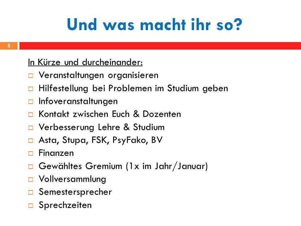 www.psychologie-greifswald.de Auf dem Laufenden bleiben 6 Gruppe: FSR Psychologie Greifswald Gruppe: Versuche am Institut für Psychologie Greifswald Newsletter