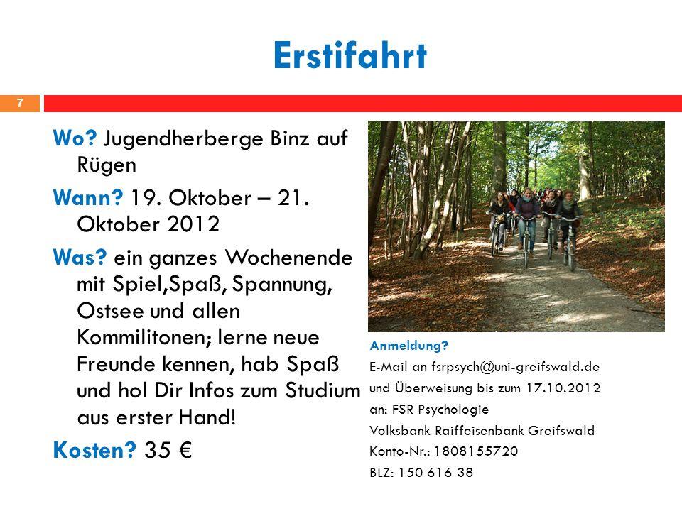 Erstifahrt 7 Wo.Jugendherberge Binz auf Rügen Wann.