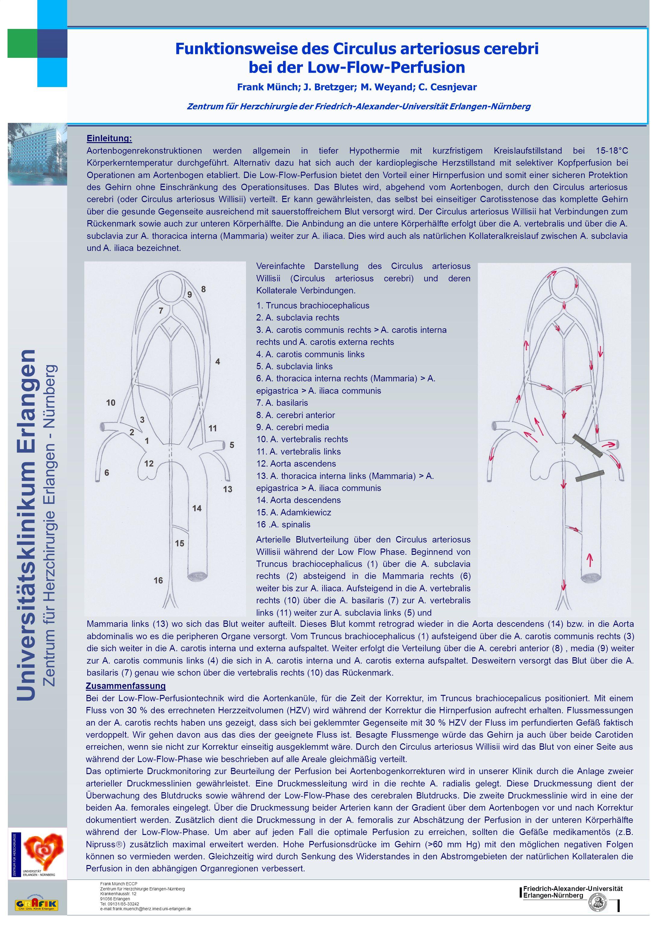 Friedrich-Alexander-Universität Erlangen-Nürnberg Universitätsklinikum Erlangen Zentrum für Herzchirurgie Erlangen - Nürnberg Funktionsweise des Circu