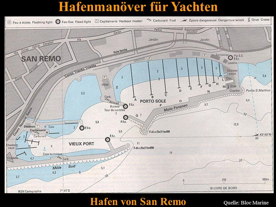 61 Hafen von San Remo Quelle: Bloc Marine Hafenmanöver für Yachten