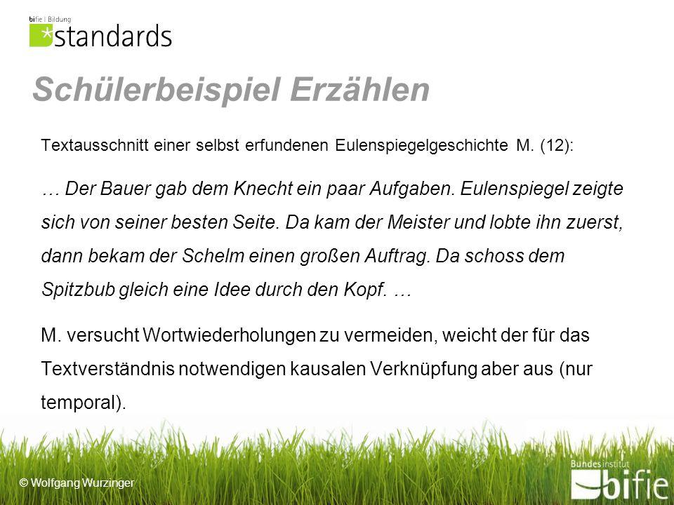 © Wolfgang Wurzinger Schülerbeispiel Erzählen Textausschnitt einer selbst erfundenen Eulenspiegelgeschichte M.