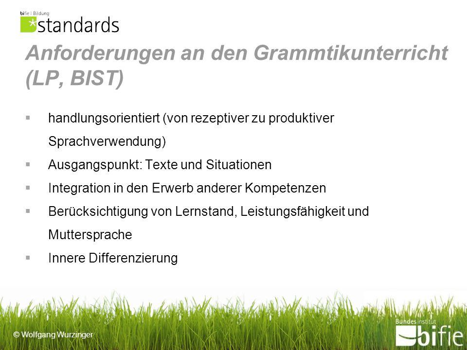 © Wolfgang Wurzinger PC unterstütztes Arbeiten Auch wenn nicht explizit angeführt: Für den Erwerb der Rechtschreibkompetenz ist die Arbeit mit Textverarbeitungsprogrammen hilfreich.