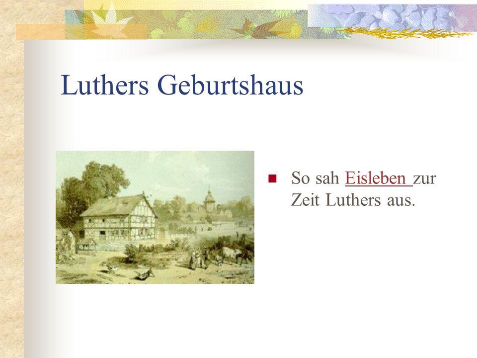 Luthers Geburtshaus So sah Eisleben zur Zeit Luthers aus.Eisleben