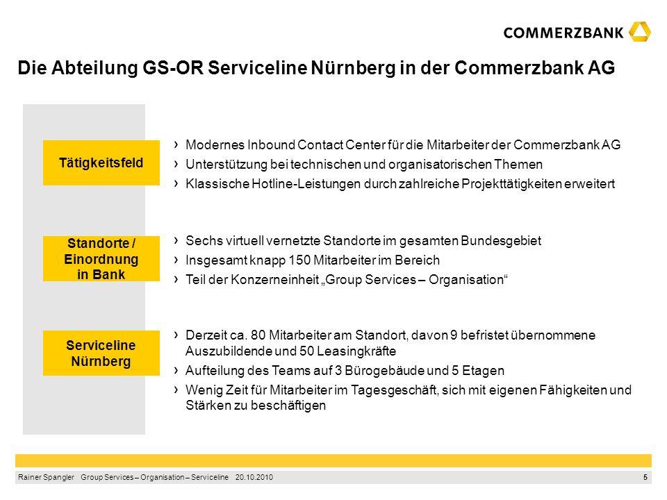 4 Rainer Spangler Group Services – Organisation – Serviceline 20.10.2010 1.Der ProfilPASS – ein Kompetenzpass zum Erkennen der eigenen Stärken 2.Die A