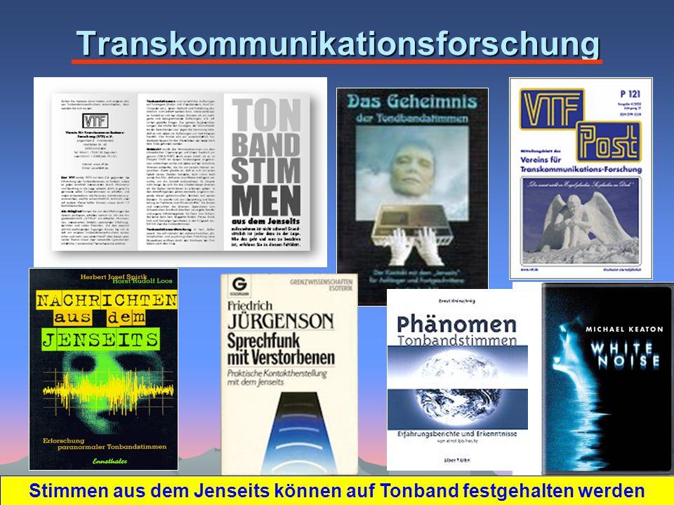 Transkommunikationsforschung Stimmen aus dem Jenseits können auf Tonband festgehalten werden