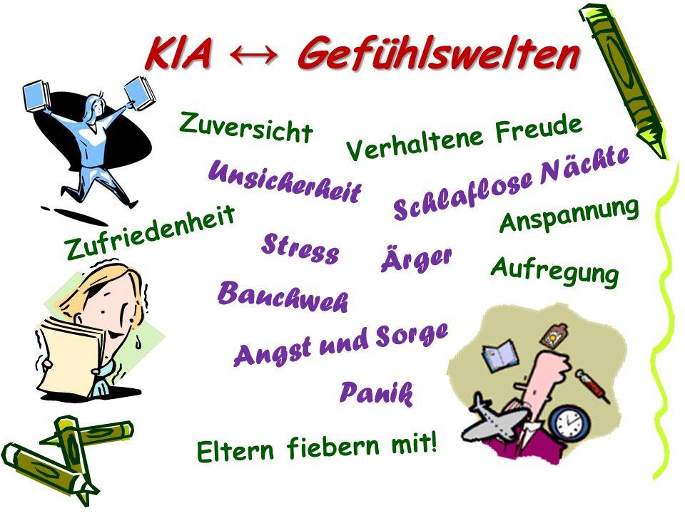 KlA richtige Einstellungen - Anspannung und Sorgen - zulassen.