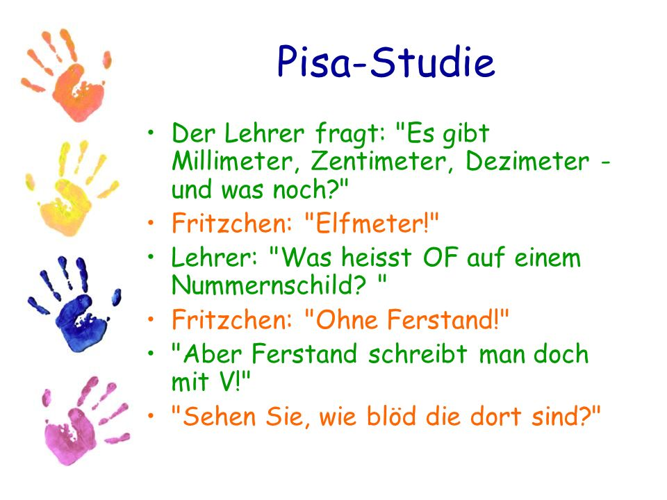 Pisa-Studie Der Lehrer fragt: