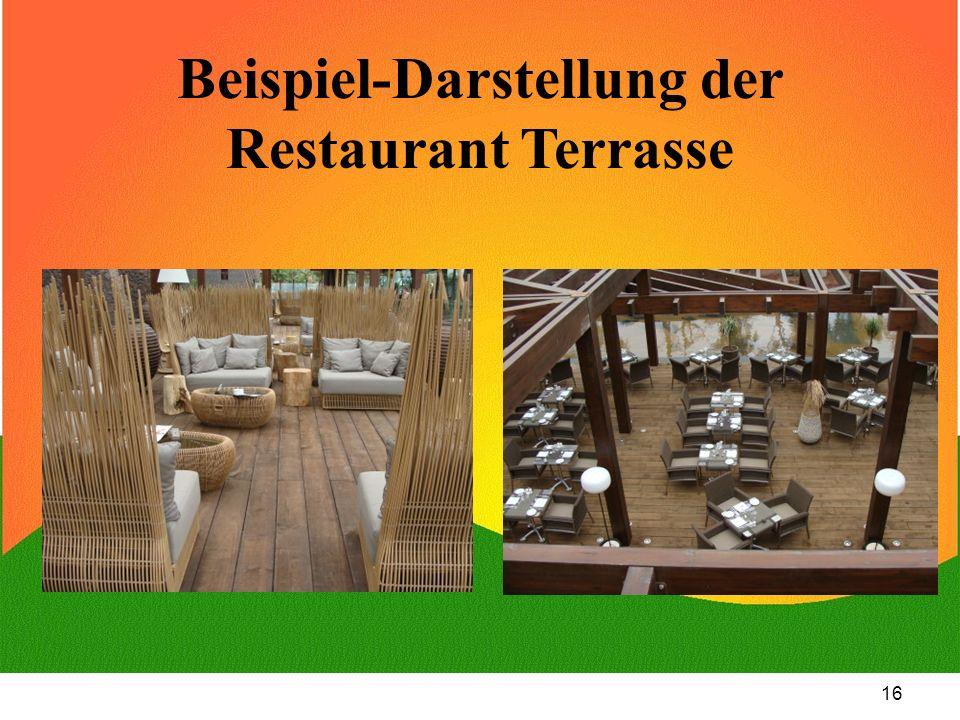 16 Beispiel-Darstellung der Restaurant Terrasse