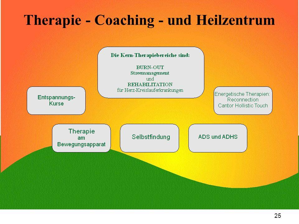 25 Therapie - Coaching - und Heilzentrum