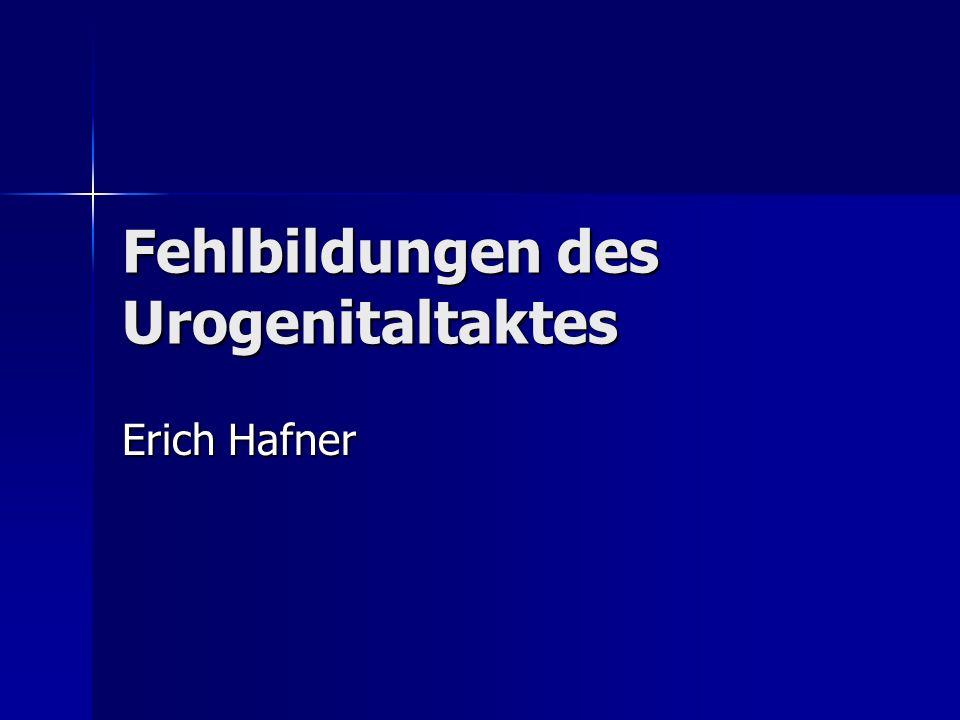 Fehlbildungen des Urogenitaltaktes Erich Hafner