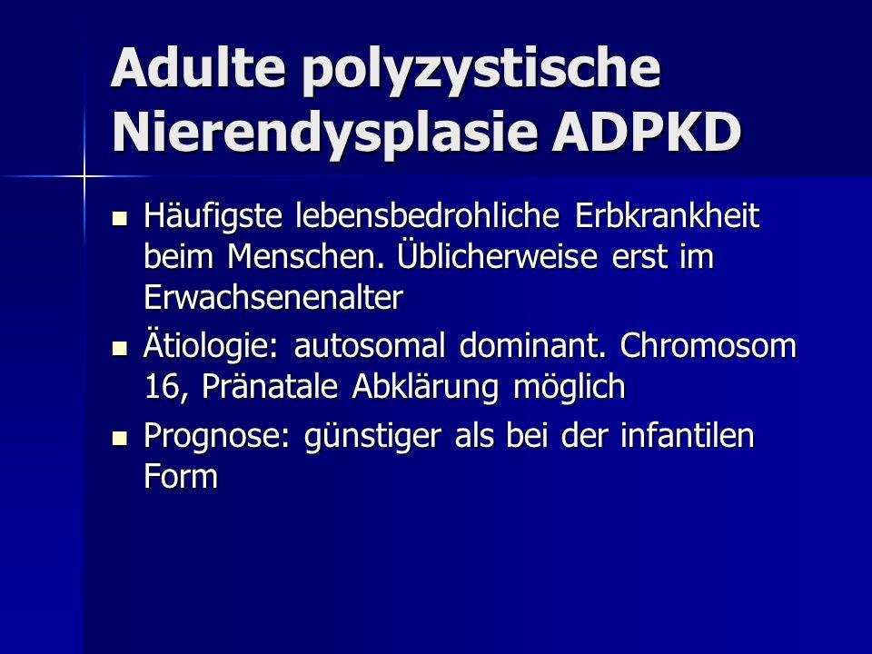 Häufigste lebensbedrohliche Erbkrankheit beim Menschen. Üblicherweise erst im Erwachsenenalter Häufigste lebensbedrohliche Erbkrankheit beim Menschen.