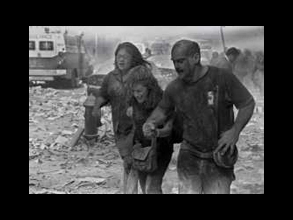 …die abertausende einfacher Amerikaner, die gestern ihren Familien und Freunden entrissen wurden, aus ihrer Arbeit und den gut Taten, aus ihren Freuden und ihrer Melancholie – diese Amerikaner, deren Todeskampf in den Straßen Palästinas und anderen Orten der arabischen Welt gefeiert wurden, einer Welt gefangen gehaltener Gehirne, nicht funktionierender Wirtschaft und fehl geschlagenen Gesellschaften – standen nicht an der Front.