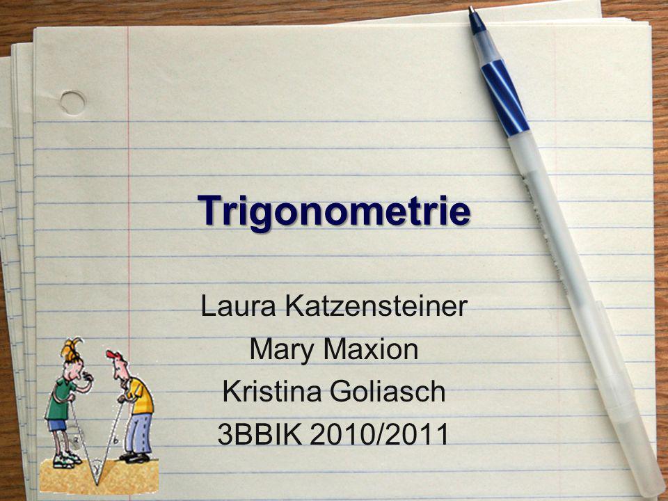 Wofür Trigonometrie.
