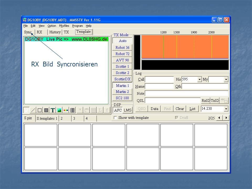 RX Bild Syncronisieren
