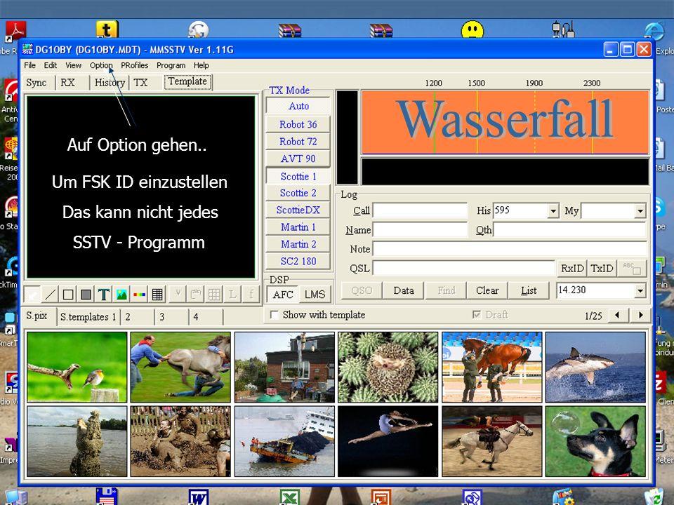 Wird sehr gut beschrieben in meiner Homepage www.DL0SHG.de Auf die ( SSTV – Relais ) Seite gehen … da findest Du Links : SLANT – TX – MMSSTV.pdf in Deutsch gut beschrieben.
