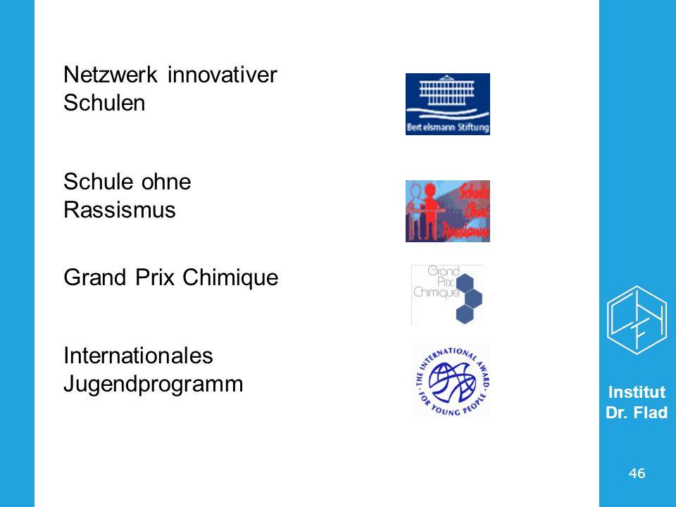 Institut Dr. Flad 46 Netzwerk innovativer Schulen Schule ohne Rassismus Grand Prix Chimique Internationales Jugendprogramm