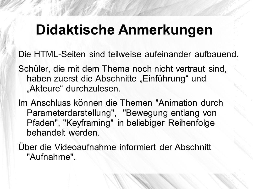 Didaktische Anmerkungen Für Schularbeitenbeispiele zum Thema Animation eignen sich Brettspiele (Schach, Dame, Fuchs und Henne,...).