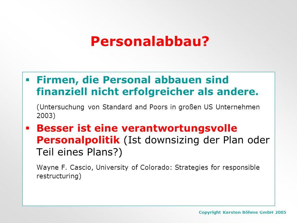 Copyright Karsten Böhme GmbH 2005 Gewinn- und Verlustrechnung Ist zu mehr als 2/3 vom Aufwand für Mitarbeiter bestimmt. Es gibt feste und freie Steuer