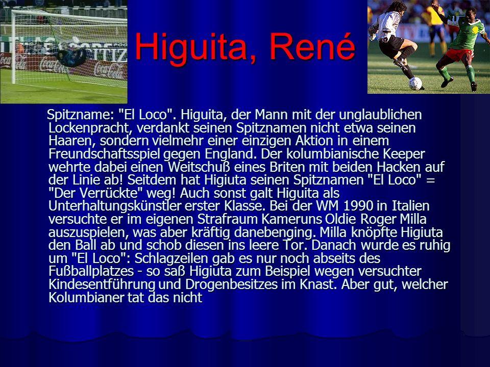 Higuita, René Spitzname: