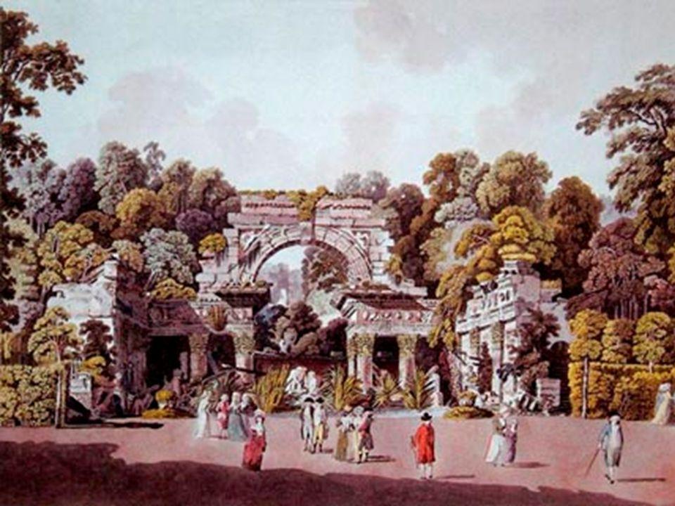 Römische Ruine Die Römische Ruine (1780)Die von Hohenberg entworfene und 1778 errichtete künstliche Ruine orientiert sich an Piranesis Darstellungen d