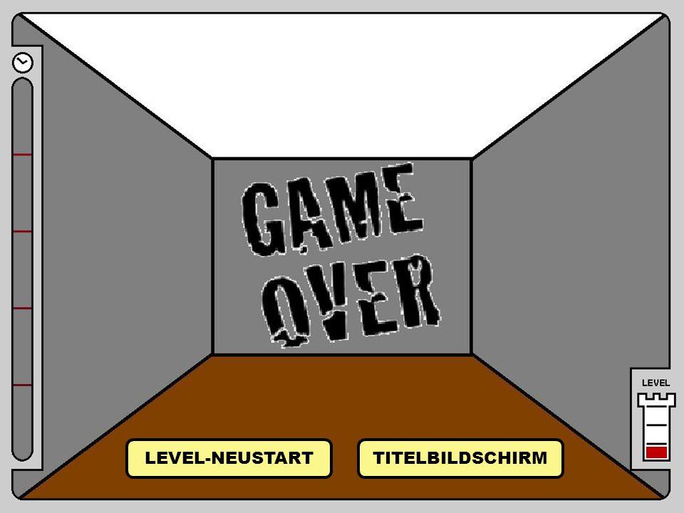 Raum 15 LEVEL-NEUSTART TITELBILDSCHIRM