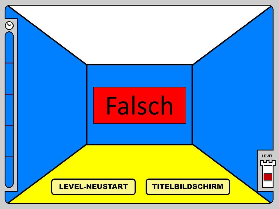 Falsch TITELBILDSCHIRM LEVEL-NEUSTART