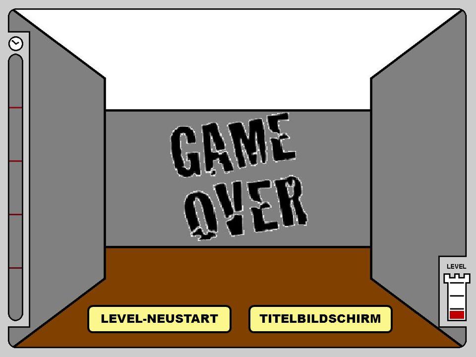 LEVEL-NEUSTART TITELBILDSCHIRM