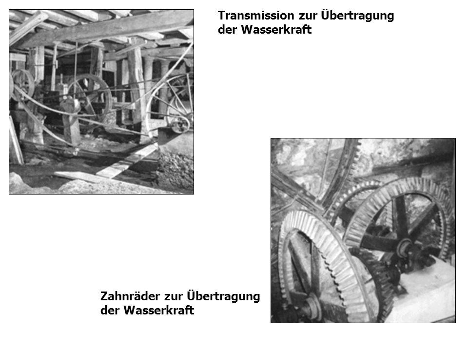 Zahnräder zur Übertragung der Wasserkraft Transmission zur Übertragung der Wasserkraft