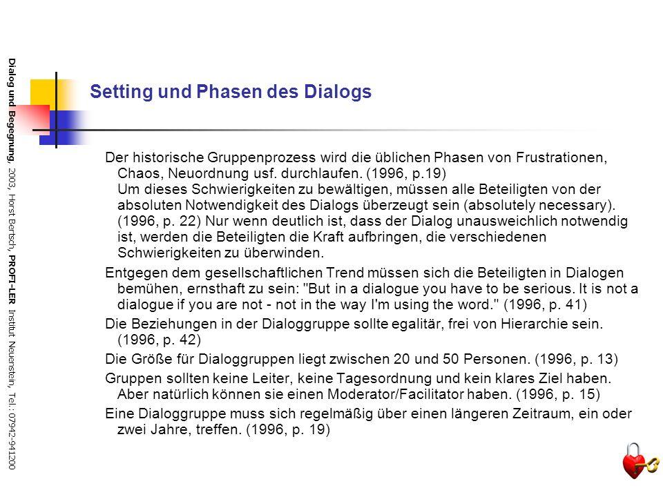Dialog und Begegnung, 2003, Horst Bertsch, PROFI-LER Institut Neuenstein, Tel.: 07942-941200 Krankheitslehre Mangelnde individuelle und soziale Selbst