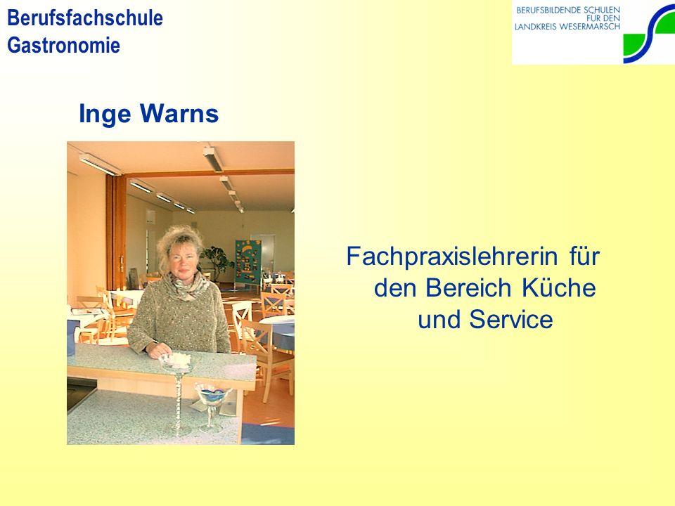 Berufsfachschule Gastronomie Susanne Nier Fachtheorielehrerin für den Bereich Service