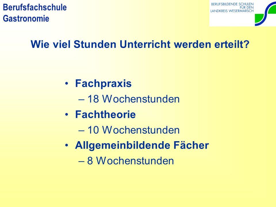 Berufsfachschule Gastronomie z.B.: eine Ausbildung zum/zur …..