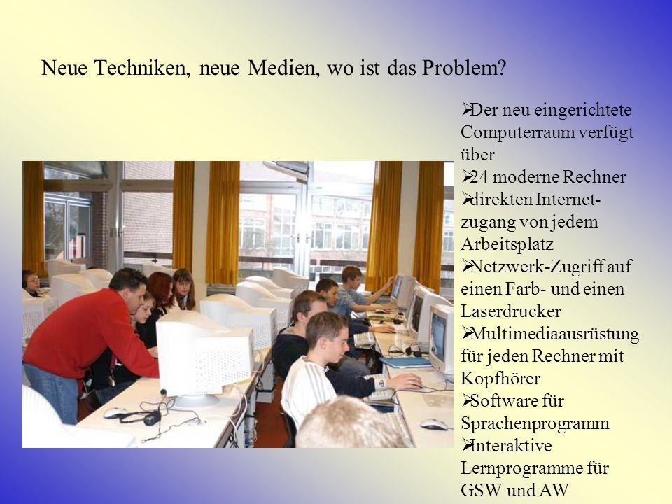 IT-Unterricht Sprachförderung durch multimedialen Unterricht im Fach Englisch Einsatz des Internets zur Recherche im Fachunterricht (GSW, AW).