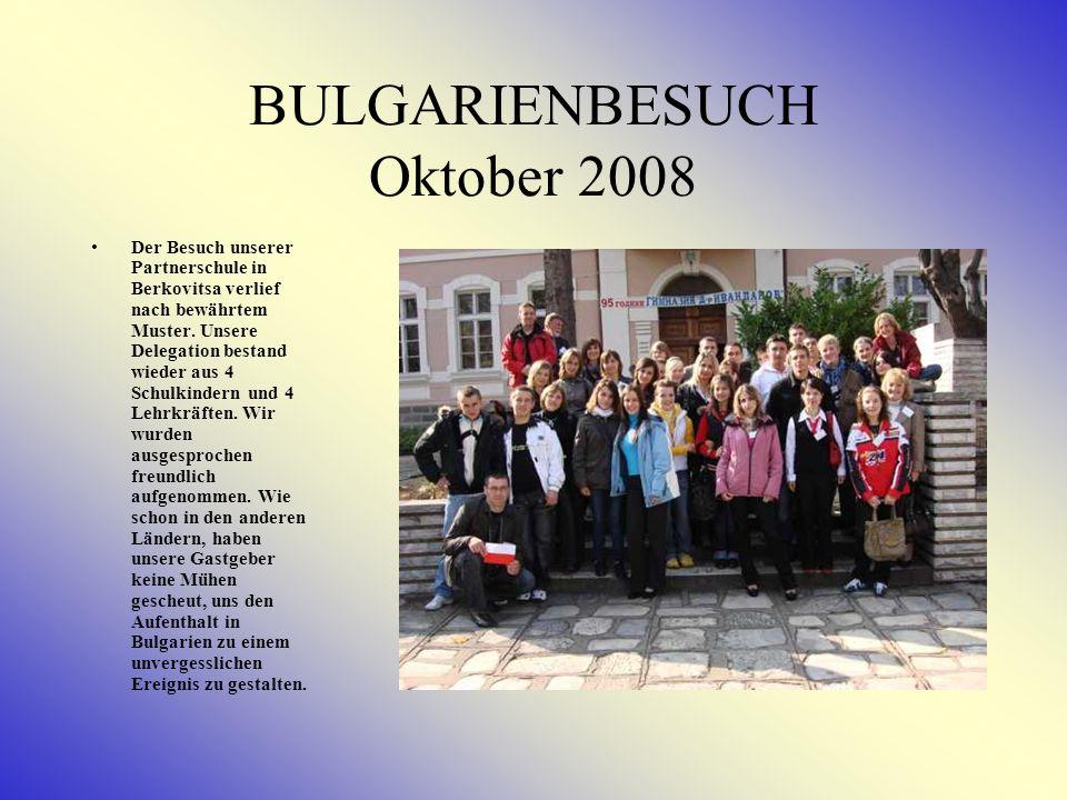 Türkeibesuch im April 2008 Im April besuchte eine 8-köpfige Delegation bestehend aus 4 Lehrkräften und 4 SchülerInnen unsere Gastschule in der Türkei.