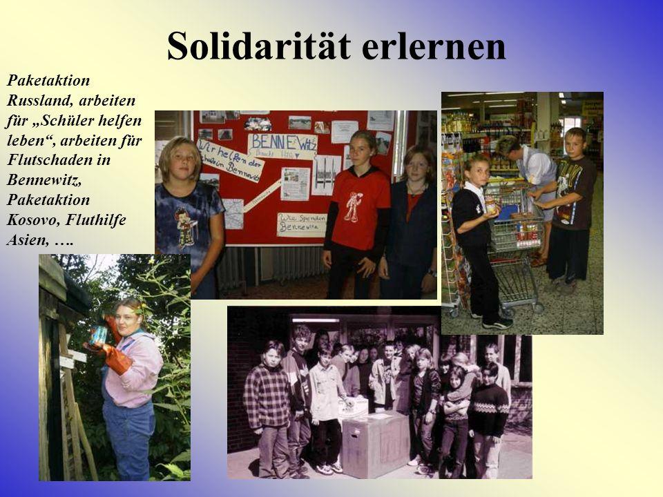 Solidarität erlernen.