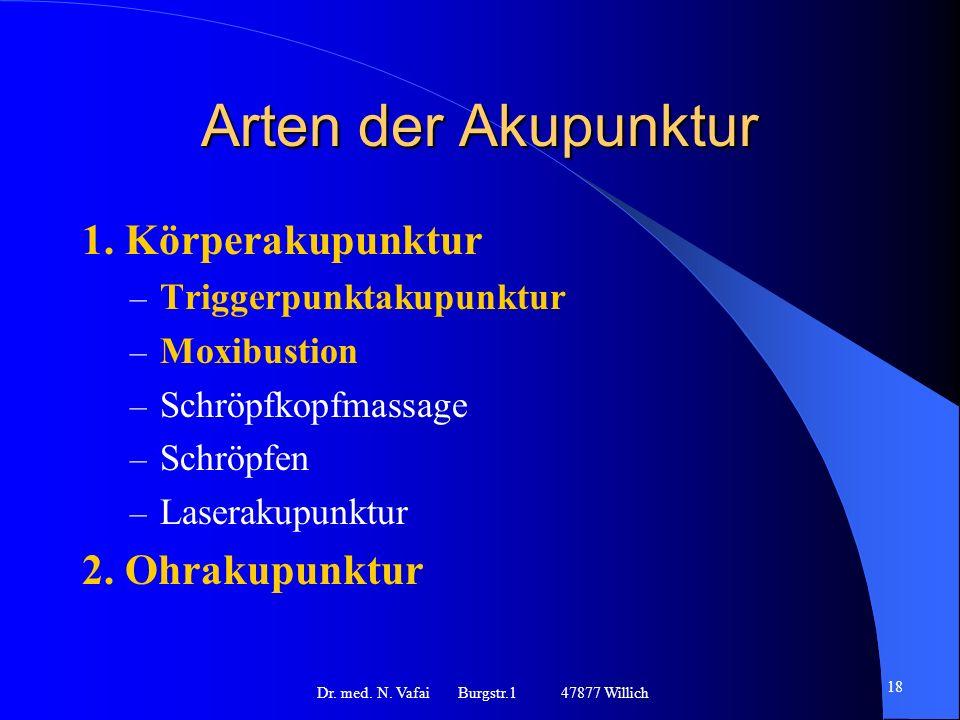 Arten der Akupunktur 1.
