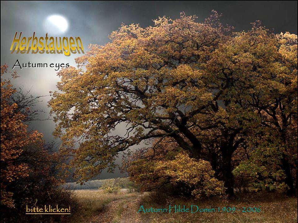 Autorin Hilde Domin 1909 - 2006 bitte klicken! Autumn eyes