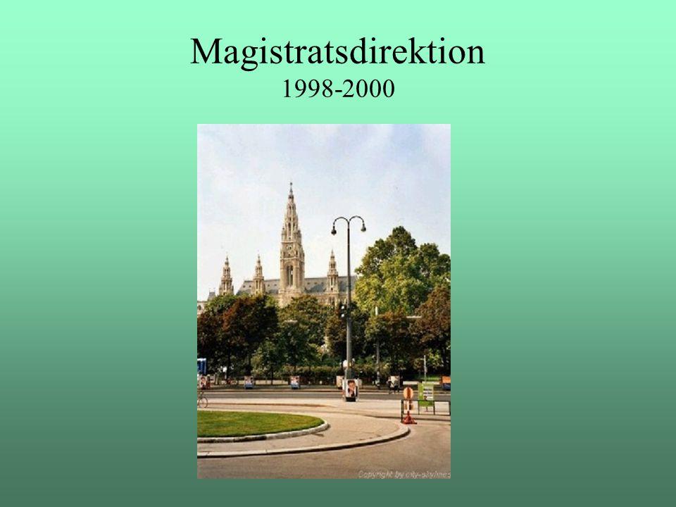 Magistratsdirektion 1998-2000