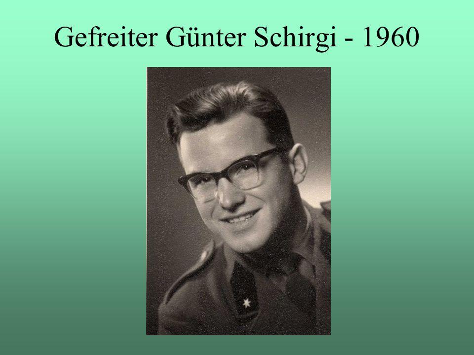 Gefreiter Günter Schirgi - 1960