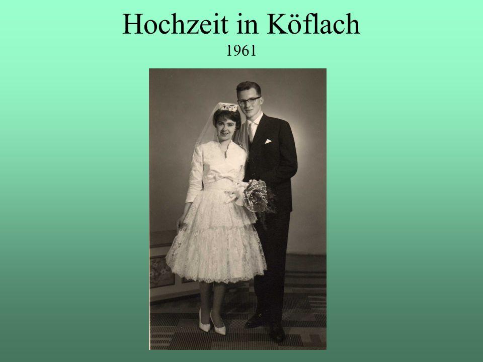 Hochzeit in Köflach 1961