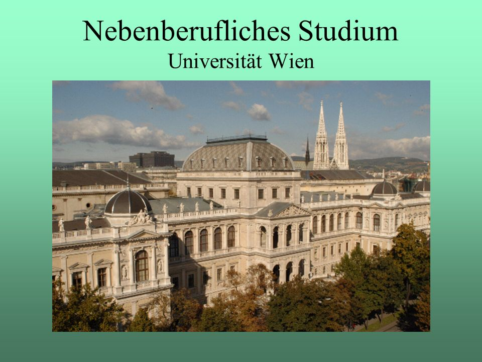 Nebenberufliches Studium Universität Wien