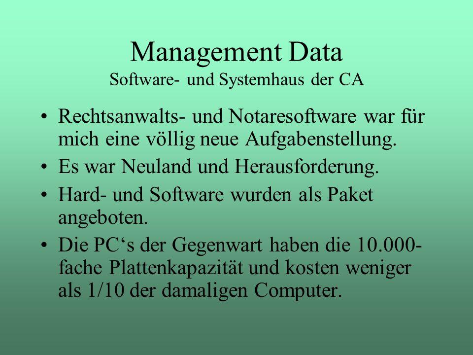 Rechtsanwalts- und Notaresoftware war für mich eine völlig neue Aufgabenstellung. Es war Neuland und Herausforderung. Hard- und Software wurden als Pa