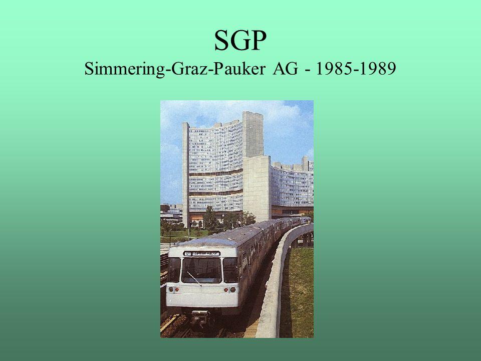 SGP Simmering-Graz-Pauker AG - 1985-1989